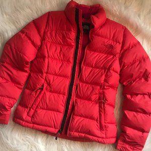 North Face Womens XS Pink Nuptse Puffer Jacket 700